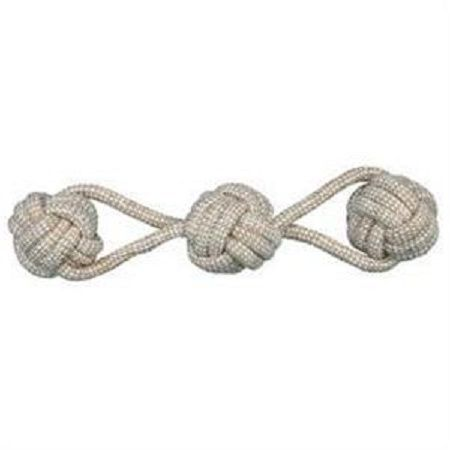 Denta Fun Playing Rope with 3 Woven-in Ball