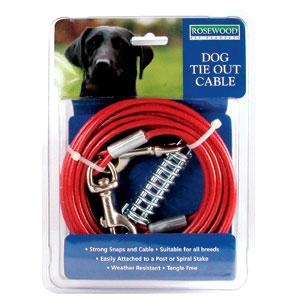 tie out cable for spiral stake ground spike 10ft